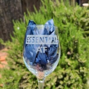 engraved glass with paper inside